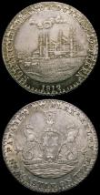 London Coins : A166 : Lot 1286 : Shillings 19th Century (3) Northumberland (2) Newcastle-upon-Tyne 1812 Obverse: Arms and supporters/...