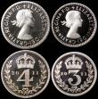 London Coins : A166 : Lot 1942 : Maundy Set 2011 S.4211 Prooflike UNC the Fourpence with a small tone spot