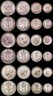 London Coins : A166 : Lot 2402 : Maundy Sets a large and impressive group (67) 1900, 1901, 1902, 1902 Matt Proof, 1903, 1904, 1906, 1...