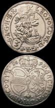 London Coins : A167 : Lot 1876 : Austria 3 Kreuzer (2) 1668 Leopold I KM#1245 EF/GEF and lustrous, 1693 Leopold I KM#1245 EF and lust...