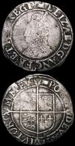 London Coins : A167 : Lot 433 : Shilling Elizabeth I Sixth Issue S.2577 mintmark Woolpack Near Fine with two small edge cracks, Sixp...