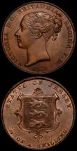 London Coins : A168 : Lot 2047 : Jersey (2) 1/13th Shilling 1861 S.7001 EF/GEF with traces of lustre, 1/26th Shilling 1861 S.7002 GEF...