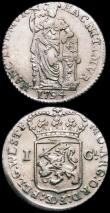 London Coins : A168 : Lot 2061 : Netherlands - West Friesland Gulden (2) 1793 KM#97.5 VF, 1794 KM#97.5 GVF and lustrous