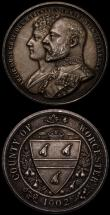 London Coins : A168 : Lot 956 : Medals (2) Queen Victoria Diamond Jubilee 1897 37mm diameter in silver, Heaton Mint, Obverse: Bust l...