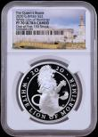 London Coins : A169 : Lot 2007 : Two Pounds 2020 The Queen's Beasts - The White Lion of Mortimer One Ounce Silver Proof, in an N...