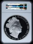 London Coins : A169 : Lot 461 : Five Hundred Pounds 2015 Queen Elizabeth II - The Longest Reigning Monarch One Kilo of .999 Silver P...