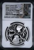 London Coins : A169 : Lot 483 : Five Pound Crown 2019 200th Anniversary of the Birth of Queen Victoria Silver Proof S.L77 in an NGC ...