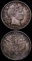 London Coins : A170 : Lot 1241 : USA (2) Quarter Dollar 1892 Type II, Wing covers more than half of the E of UNITED, Breen 4124, A/UN...