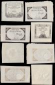 London Coins : A170 : Lot 164 : France Kingdom (7) a selection of early Assignat notes in a well preserved state VF - GVF and better...