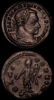 London Coins : A170 : Lot 429 : Roman (2) Follis Maxentius (306-312AD) Obverse: Bust right, laureate IMP C MAXENTIVS PF AVG, Reverse...