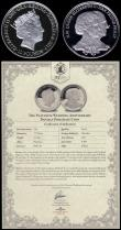 London Coins : A170 : Lot 806 : Gibraltar Ten Pounds 2017 One Tenth Ounce, Queen Elizabeth II and Prince Philip Platinum Wedding, Pl...