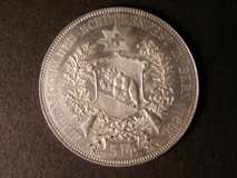 London Coins : A122 : Lot 1436 : Switzerland Shooting Thaler - 5 Francs 1885 Bern bright UNC