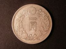 London Coins : A124 : Lot 1968 : Japan One Yen 1901 Year 34 Y#A25.3 Bright A/UNC