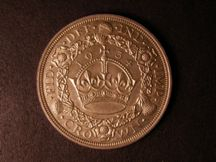 London Coins : A124 : Lot 233 : Crown 1934 Proof Coincraft G5CR-080 nFDC with a couple of small spots on the obverse, lightly to...
