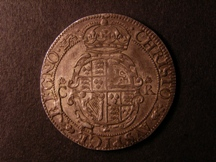London Coins : A126 : Lot 811 : Halfcrown Charles I York mint S.2868 mintmark Lion NEF with grey tone