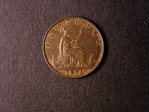 London Coins : A126 : Lot 986 : Farthing 1875 Large Date Freeman 528 dies 3+B EF with traces of lustre