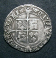 London Coins : A129 : Lot 1061 : Groat Henry VIII Posthumous issue Bristol Mint S.2406 mintmark WS monogram Good Fine