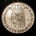 London Coins : A131 : Lot 1406 : Halfcrown 1689 Second Shield No Frosting, Pearls ESC 511 GVF