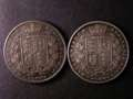 London Coins : A131 : Lot 1513 : Halfcrowns (2) 1840 ESC 673 Near Fine, 1849 Small Date ESC 683 Near Fine Rare
