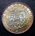 London Coins : A131 : Lot 1782 : Shilling 1899 ESC 1368 UNC with a superb deep tone, comes with a Lobel ticket c.1976