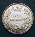 London Coins : A132 : Lot 1197 : Shilling 1843 ESC 1290 Lustrous UNC with some toning with a few light contact marks, Very Rare i...