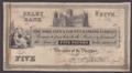 London Coins : A132 : Lot 323 : The York City & County Banking Company, SELBY BANK £5 proof on paper dated 18xx (1830-...