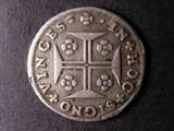 London Coins : A134 : Lot 1261 : Portugal 200 Reis 1707 KM#181 Fine, with mount marks on the reverse, Rare