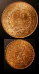 London Coins : A136 : Lot 1013 : Luxembourg 10 Cents 1889 Essais in copper (2) 10 and 5 Cents KM#E13 and E15 both Lustrous UNC with s...