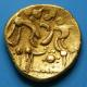 London Coins : A139 : Lot 1552 : Au Stater. Westerham type. C, 70 BC. Obv; Devolved head of Apollo. Rev; Disjointed horse...