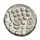 London Coins : A141 : Lot 1053 : Stater Au. 'white gold' issue Durotriges. C, 58-45 BC. Obv; Degraded head of Apollo....