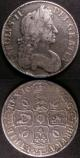 London Coins : A141 : Lot 1306 : Crowns (2) 1682 2 over 1 TRICESIMO QVARTO ESC 65A and 1677 VICESIMO NONO VG - Fine, the first wi...