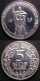 London Coins : A141 : Lot 702 : Germany - Weimar Republic 5 Reichsmarks (2) 1925E KM#47 Bright VF, 1930E Liberation of the Rhine...