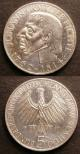 London Coins : A141 : Lot 705 : Germany Federal Republic Commemorative Coinage (2) 5 Marks 1955G 300th Anniversary of the Birth of L...