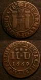 London Coins : A141 : Lot 909 : Halfpenny 19th Century Ireland Dublin 1794 DH328 GEF, Farthing 17th Century Dorset 1669 Dorchest...