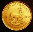 London Coins : A143 : Lot 1101 : South Africa Half Krugerrand 1980 KM#107 UNC with a few light contact marks
