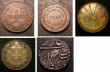 London Coins : A143 : Lot 1366 : World a small group (5) Switzerland 5 Francs 1907 GF toned, Mexico 8 Reales 1896 Mo EF toned, India ...
