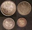 London Coins : A143 : Lot 2094 : Maundy Set 1839 ESC 2448 Fourpence, Twopence and Penny with reverse upright, the Threepence with rev...