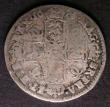 London Coins : A143 : Lot 2181 : Shilling 1676 Second Bust ESC 1047 the second 6 with possible traces of an overdate, Fair