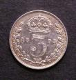 London Coins : A143 : Lot 2654 : Threepence 1893 Jubilee Head ESC 2103 GVF/NEF Rare