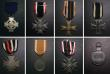 London Coins : A144 : Lot 1002 : Germany (8), 1914-18 Cross of Honour with swords, Iron Cross 1914, 2nd class, War Merit Cross 2nd cl...