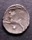 London Coins : A144 : Lot 1083 : Unit Ar. Atrebates. Tincomarus. C,30-25 BC. Obv; TINC in angles of cross. Rev: Lion left. Van Arsdel...