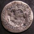London Coins : A144 : Lot 1260 : Shilling Philip and Mary 1554 Full titles with mark of value S.2500 Fair/VG with some dents on the r...