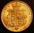 London Coins : A144 : Lot 1592 : Half Sovereign 1877 Marsh 429 VF or better with some contact marks