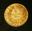 London Coins : A144 : Lot 581 : France 5 Francs Gold 1866A KM#803.2 GEF