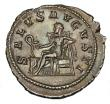 London Coins : A145 : Lot 1198 : Denarius Ar.  Maximinus I.  C, 235-236 AD.  Rev; SALVS AVGVSTI; Salus std l feeding snake arising fr...