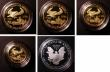 London Coins : A145 : Lot 525 : USA American Eagles Gold and Silver Set 1995 The 10th Anniversary Set, a 5-coin set comprising 50 Do...
