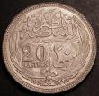 London Coins : A145 : Lot 612 : Egypt 20 Piastres 1916 AH1335 KM321 Unc or near so with a grey tone
