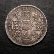 London Coins : A146 : Lot 2366 : Shilling 1736 Roses and Plumes ESC 1199 About VF/VF
