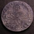 London Coins : A146 : Lot 3340 : Shilling 1685 ESC 1068 Fine darkly toned with uneven tone and an old scrape on the reverse