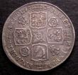 London Coins : A146 : Lot 3363 : Shilling 1736 Roses and Plumes ESC 1199 VF even tone